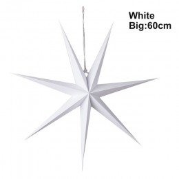 1 pieza de decoración de Año Nuevo 60cm 24 ''colgante de Navidad farol de papel de estrella adornos de Navidad Festival decoraci