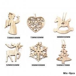 Adornos colgantes de madera de Navidad manualidades de madera creativos de estilo múltiple para niños, regalos, adornos navideño