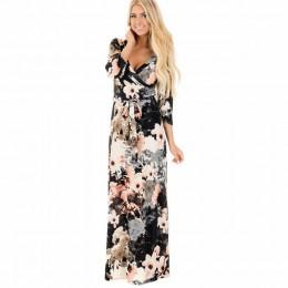 Vestido largo de verano con estampado Floral estilo bohemio para la playa para mujer