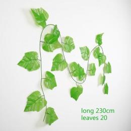 230 cm seda verde artificial colgante hoja de hiedra guirnalda plantas hojas de vid 1 piezas diy para el hogar Decoración de la