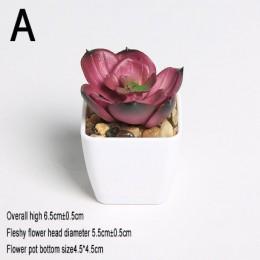 Xuanxiaotong Mini plantas artificiales vivos Cactus suculentas decoración del hogar planta bonsái para mesa de oficina plantas s