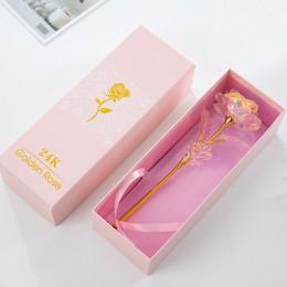 Envío Directo regalo creativo del Día de San Valentín 24K hoja de oro rosa dura para siempre amor boda decoración rosa con embal