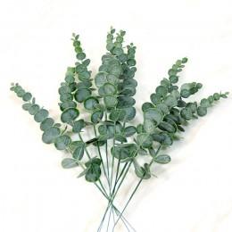 1 pieza de simulación de plantas artificiales de hoja de Eucalipto de un solo Eucalipto Artificial para sesión de fotos de boda