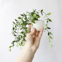 Imanes de nevera artificial en maceta planta bonsái suculenta verde set florero falso recuerdo pizarrón magnético pegatinas