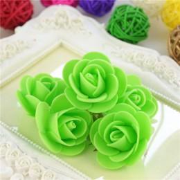 50 unids/bolsa Multicolor Mini PE espuma Rosa cabeza Artificial hecha a mano Rosa cabeza DIY boda hogar Decoración para fiestas