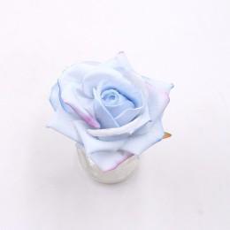4 Uds 10cm real no tejido ramos de rosas artificiales Para DIY caja de regalo con corona Scrapbooking flores falsas Para decorac