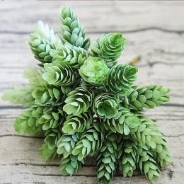 30 uds/1 paquete simulación planta verde flor plástica Artificial barata para mesa decorativa para el hogar boda diy caja de reg