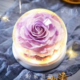 Eterno exclusivo rosa en la cúpula de cristal la belleza y la Bestia Rosa romántica regalos de San Valentín regalo de Navidad re