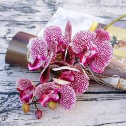Simulación 3D pequeña mariposa orquídea 6 cabezas/paquete flores falsas para el hogar drapery pared decoración de boda diy Artif
