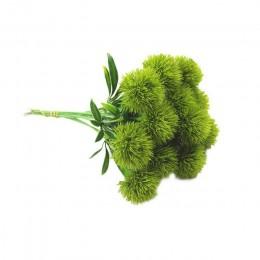 10 unids/set de plantas artificiales de simulación de flores de diente de león flores de plástico falsas amarillas para la jardi