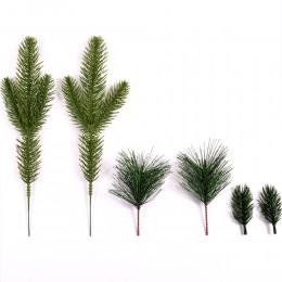 5/10 Uds. Aguja de pino verde flor Artificial para la decoración de la Navidad de la boda artesanía de regalo DIY árbol de Navid