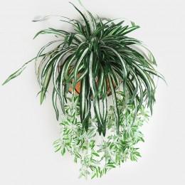 Luyue 65cm plantas de flores artificiales colgantes en la pared Chlorophytum macetas plantas verdes PVC falso simulación flor sa