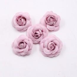10 Uds 5cm alta calidad rosa de seda artificial flor bud boda guirnalda de bricolaje decoración tocado accesorios clip art flor