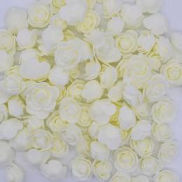 3cm PE espuma Artificial flor decorativa oso de peluche ramo de rosas para el hogar boda flores decoración corona de flores fals