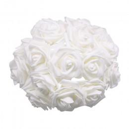 24 unids/lote ramo de rosas decorativas de espuma Rosa Flores de novia ramos para boda decoración de fiesta en casa suministros