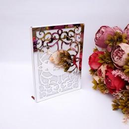 Símbolo de amor personalizado boda libro de firmas de invitados espejo personalizado cubierta frontal novia y novio decoración d