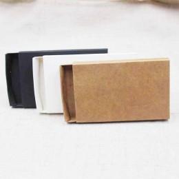 10 Uds. DIY en blanco kraft/negro/blanco caja de cartón deslizante cajón REGALO/favor del caramelo caja de exhibición de embalaj