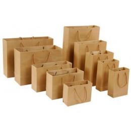 10 Uds. Bolsa de papel de regalo bolsa de compra de ropa de regalo personalizada bolsa de papel Kraft Logo de impresión en punto