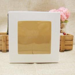 Cajas de embalaje y exhibición de regalo DIY Multi tamaño personalizado felluan con ventana transparente de pvc para dulces/past