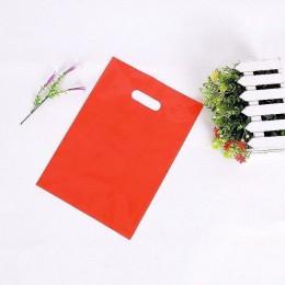 50 Uds. Bolsas de plástico grandes coloridas con asa, paquete de mochila de regalo de Festival (pedido de logotipo personalizado