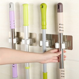 Soporte organizador de fregona montado en la pared gancho para escoba estante de almacenamiento herramienta de cocina accesorio