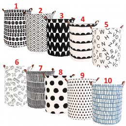 1 Pza cesta de la colada plegable bolsa de almacenamiento redonda cesta grande cesta plegable de ropa soporte de juguete cubo or