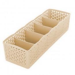 LASPERAL 5 rejillas cesta de almacenamiento organizador de guardarropa mujer hombre caja de almacenamiento para calcetines ropa