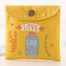 Pañal para niñas bolsa de almacenamiento de servilletas sanitarias lona almohadillas sanitarias paquete bolsas monedero joyas or