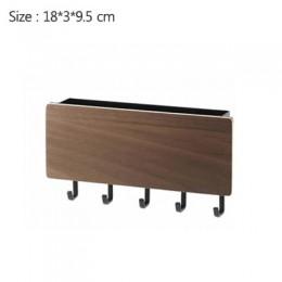 Nuevo estante de pared decorativo de madera para colgar en la pared varias cajas de almacenamiento percha de Prateleira organiza