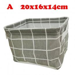 Caja de almacenamiento de escritorio Linda impresión impermeable organizador algodón Lino diversos almacenamiento cesta armario