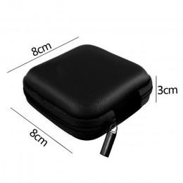 Estuche contenedor moneda auriculares caja de almacenamiento protectora auricular colorido estuche de viaje bolsa de almacenamie