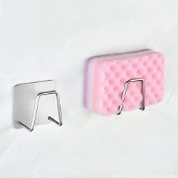 Cocina de acero inoxidable soporte para esponja de cocina cepillo de jabón escurridor de líquido para lavar platos