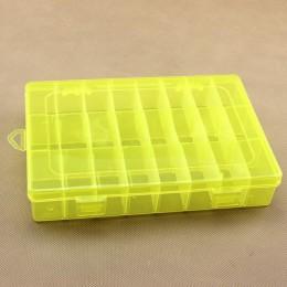 Life esencial 24 compartimentos de almacenamiento práctico estuche de plástico ajustable para anillos de cuentas organizador de