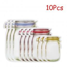 LMETJMA 12 piezas tarro de masón bolsas con cremallera reutilizable bolsa de ahorro de bocadillos a prueba de fugas bolsas de al