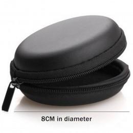 USB Cable organizador auricular caso mano Spinner portátil auriculares caja dura forma redonda auricular bolsa con cremallera