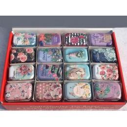 Colorido mini caja de lata sellada tarro de embalaje cajas de joyería, caja de dulces pequeñas cajas de almacenamiento latas pen