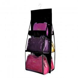 6 bolsos colgantes de bolsillo organizador para armario bolsa de almacenamiento transparente puerta de la pared bolsa de zapatos