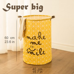 Cesta de Picnic soporte de lavandería cesta de juguete caja de almacenamiento súper grande bolsa de algodón lavado ropa sucia ce