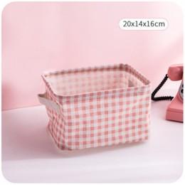MICCK plegable cesta de almacenamiento de escritorio artículos diversos caja de almacenamiento ropa interior organizador cosméti