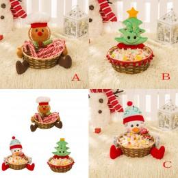 Cesta de almacenamiento de dulces de Navidad decoración de la cesta de almacenamiento de Santa Claus regalo de Navidad decoració