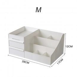 Gran capacidad caja de almacenamiento de cosméticos cajón organizador de maquillaje tocador cuidado de la piel estante casa cont