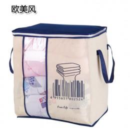 2018 nuevo organizador de bolsa de almacenamiento portátil no tejido 45,5*51*29 cm organizador de armario plegable para ropa de
