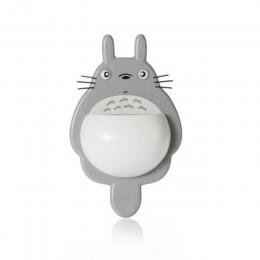 1 Uds. Soporte de montaje en pared de cepillo de dientes bonito Totoro Sucker succión organizador de baño herramientas familiare