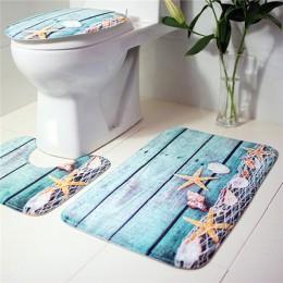 3 unids/set estera de baño conjunto de Anti-deslizamiento cocina alfombra de baño inodoro alfombra lavable Tapete Banheiro