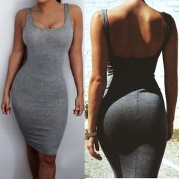 Venta caliente mujeres paquete cadera vestido vendaje Bodycon Mini vestido de cintura alta Delgado sólido gris Casual vestido