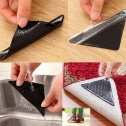 4 Uds alfombra de piso de casa alfombrillas autoadhesivas antideslizantes triple pegatina reutilizable lavable silicona etiqueta