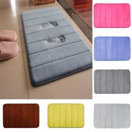 Envío Directo 40*60cm alfombra de baño Alfombra de lana de coral espuma de memoria alfombra de baño Puerta de cocina suelo tapis