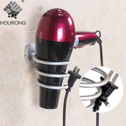 Espacio de aluminio soporte de secador de pelo montado en la pared estante secador de pelo soporte de almacenamiento accesorios