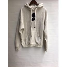 Nueva sudadera con capucha de algodón con estampado de letras para mujer más terciopelo grueso cálido otoño invierno Casual suda