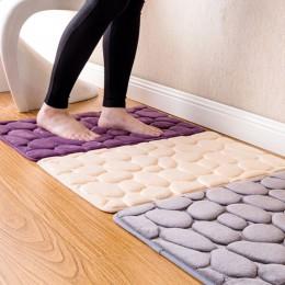 Kit de alfombra de espuma de memoria de baño de lana de Coral, alfombrillas antideslizantes para baño, juego de alfombrillas par
